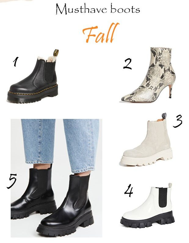 5 Musthave boots for fall