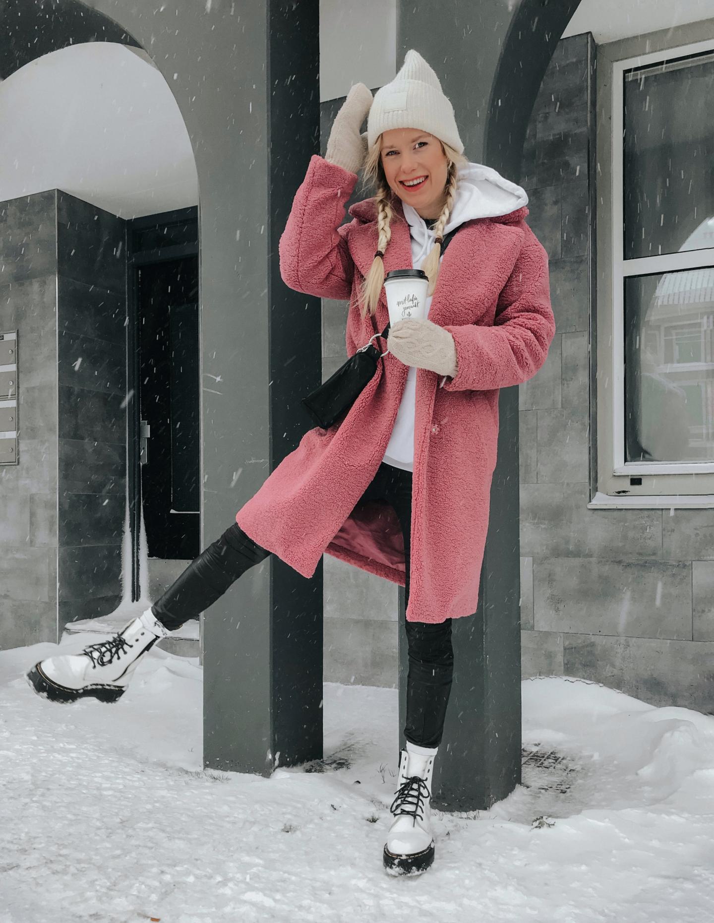 Teddy Coat Pink Style
